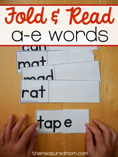 activity for learning a-e words Learn to read a-e words with this free silent e activity that's quick and easy to prepare!Learn to read a-e words with this free silent e activity that's quick and easy to prepare! Teaching Phonics, Phonics Activities, Student Teaching, Therapy Activities, Writing Activities, Reading Intervention, Reading Skills, Reading Practice, Reading Lessons