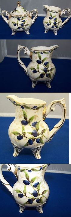 Cream and Sugar 103434: Olive Tree Creamer And Sugar 2 Piece Set With Gold Trim -> BUY IT NOW ONLY: $37.5 on eBay!