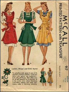 vintage aprons - you wear them, right?