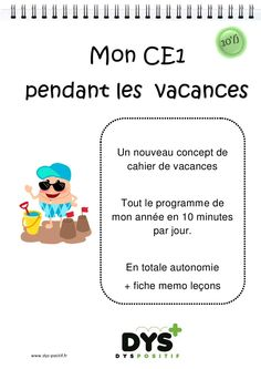 Cahier de vacances de Français au CE1