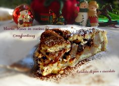 CROSTATA DI PERE E CIOCCOLATO Lasagna, Dessert, Ethnic Recipes, Food, Deserts, Essen, Postres, Meals, Yemek