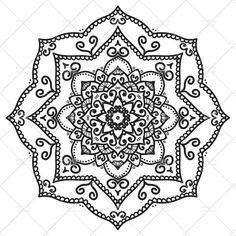 Printable Mandala 7 - Adult Coloring Page - Printable Art - Home Decor - Instant Download PDF   https://gum.co/BMuWID   #adultcoloring #mandala #printables