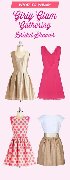 What to wear for a glam & girly #bridalshower!