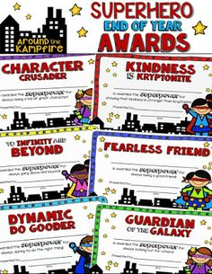 Preschool Graduation Discover End of the Year Awards Superheroes Theme - EDITABLE End of year SUPERHERO awards. 32 unique awards to give your students a superhero send-off theyll never forget! Superhero School Theme, School Themes, Classroom Themes, School Classroom, Superhero Ideas, Superhero Kindergarten, Superhero Teacher, Superhero Room, Superhero Capes