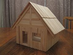 Popsicle stick dollhouse DIY