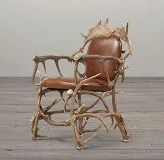 Fancy - Black Forest Antler Chair