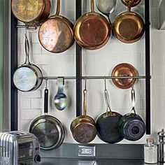 Look! Wall-Mounted Pot Rack