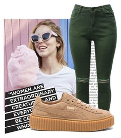 """crack bunny"" by alexxvi ❤ liked on Polyvore featuring Puma"