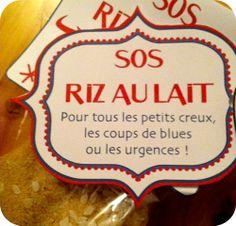SOS Riz au lait, la bonne idée cadeau pour les gourmands ! (étiquettes à imprimer)
