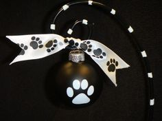 Dog ornament. put the pet's name on the opposite side.