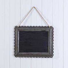 ANTIQUE BLACKBOARD IN DECORATIVE FRAME  - ANTIQUE BLACK Morgan & Finch