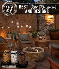 27 Best Fire Pit Ideas and Designs | Easy and Cheap DIY Outdoor Fire Pit by Pioneer Settler at http://pioneersettler.com/fire-pit-ideas-designs/