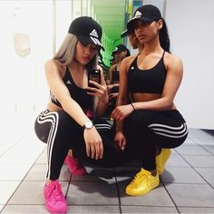 Matching Adidas outfits
