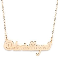 Twitter name necklace! @BaubleBar
