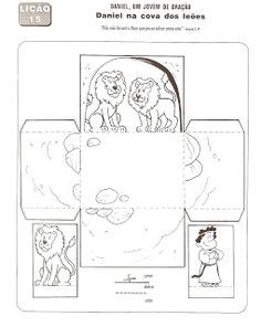 Daniel and the lion's cave template. The page is in Portuguese, but the crafts are usable. Bible Crafts, Bible School Crafts, Preschool Bible, Bible Activities, Sunday School Activities, Sunday School Lessons, Sunday School Crafts, Idees Cate, Daniel And The Lions