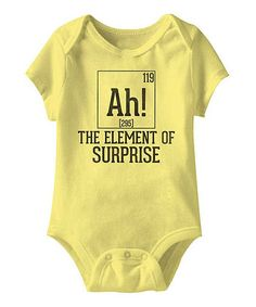 Banana 'The Element of Surprise' Bodysuit - Infant