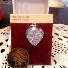 vintage crea sterling 1982 worlds fair charm sterling silver rhodium plated worlds fair heart charm new old stock