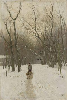 Anton Mauve - Winter in de Scheveningse bosjes, 1870 - 1888