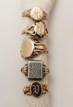 Vintage Signet Rings