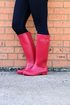 We are in love with these red rain boots for spring! Size: 5.5 - 10
