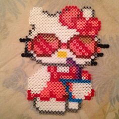 Hello Kitty perler beads by danceluver147