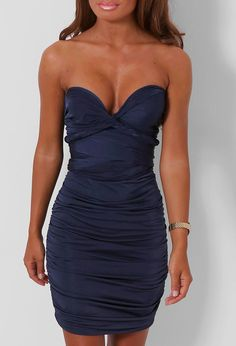 Pink Boutique Arianna Navy Slinky Multiway Dress £25 http://www.pinkboutique.co.uk/arianna-navy-slinky-multiway-dress.html #pinkboutique