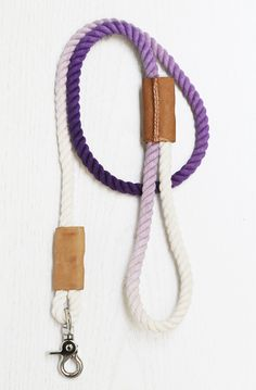 How To Make a Modern Dip-Dyed Leash