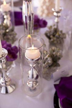 Vaso de cristal con candelabro