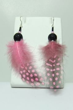ClipOn or Pierced Earrings Feather by AstraBellaSinsations on Etsy, $8.00