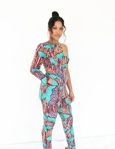 AFRICAN PRINT JUMPSUIT- I'YORE African Print Jumpsuit, African Print Clothing, African Print Fashion, African Dress, Fashion Prints, Size 16, Couture, Skirts, Jumpsuits