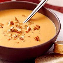 Warm up with our hearty sweet potato soup as the temperature starts to drop. Toast the pecans to help maximize their flavor. #recipe #WWLoves