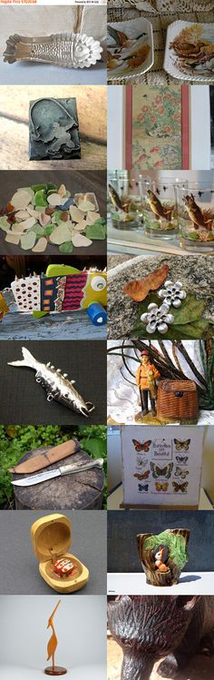 Fishy Fishy In a Brook. by veryvintagecanadian on Etsy--Pinned+with+TreasuryPin.com