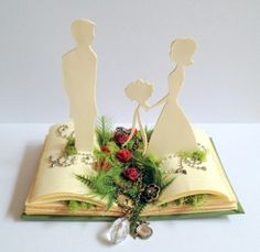 book cake topper