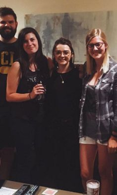 Pin for Later: Maisie Williams Manages to Crash a Game of Thrones Viewing Party Without Going Blind or Killing Anyone
