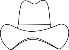 Black and White Simple Cowboy Hat