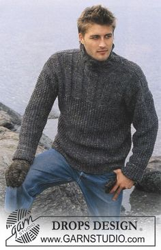 DROPS Pullover in Karisma Superwash and Fabel and Gloves in Karisma Free pattern by DROPS Design. Drops Design, Sweater Knitting Patterns, Knit Patterns, All Free Knitting, Knit Fashion, Grey Sweater, Free Pattern, Gloves, Knits