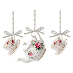 Royal Albert by Royal Doulton New Country Roses Polka Blue Mini Teapot and Teacup and Saucer Pair, Set of 3 Pink Christmas Ornaments, Blue Christmas, Christmas Tree, Christmas Ideas, Cheap Christmas, Holiday Ideas, Vintage Christmas, Gold Polka Dots, My Cup Of Tea
