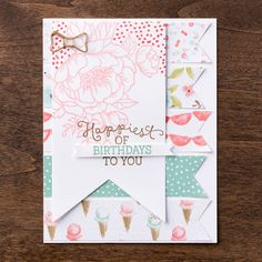 The Birthday Bouquet suite of products from the 2016 Occasions Mini are perfect for creating beautiful birthday cards for those you love.