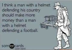 Soldiers pay compared to NFL players pay