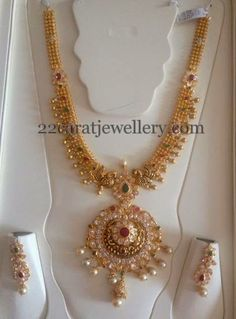 Jewellery Designs: Antique Mala with Pachi Design
