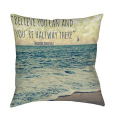 Thumbprintz Flite Indoor/ Outdoor Decorative Throw Pillow x Blue (Polyester, Coastal) Home Fashion, Beach Signs, Yoga Quotes, Home Decor Outlet, Coastal Living, Floor Pillows, Toss Pillows, Accent Pillows, Decoration
