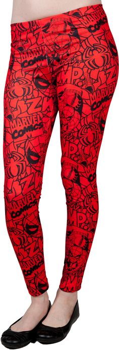 Spiderman Leggings - yes I'd wear these!
