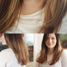 ombre hair - I like these colors together, but I wouldn't do ombre style - my hair is too light naturally & I would have roots too often on top - light growing into dark dyed hair looks terrible!