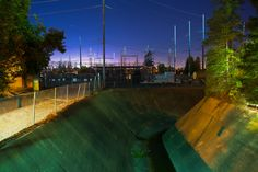 I've seen power and I've seen drain           SMUD substation and drainage canal near Cal Expo. Night HDR work