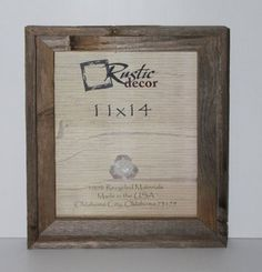 11x14 Picture Frames - Signature Barnwood Reclaimed Wood Photo Frames Rustic Decor     $19.99