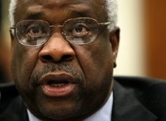 Supreme Court Justice Clarence Thomas has become famous for never asking questions during oral arguments. Monday, he ...