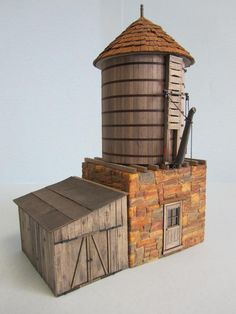 Railroad Line Forums - SierraWest Sawmill Complex and Module in O Scale. Ho Trains, Model Trains, Joe Henderson, Water Tower, Fairies, Modeling, Landscaping, Buildings, Scale