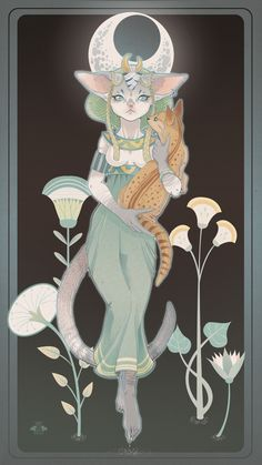 The Character Design Challenge! Art by Marga Biazzi‎ Bastet Goddess, Goddess Art, Ancient Egyptian Art, Egyptian Cats, Ancient Aliens, Ancient Greece, Ancient History, Egyptian Mythology, Egyptian Goddess