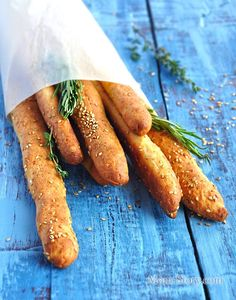 Хлебные палочки с сыром за 25 минут