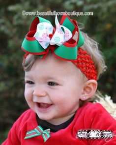 'Tis the reason for the season! And this #Christmas candy girl's hair bow will make a cheery addition to her favorite holiday outfit. Custom designed in minute detail, it fe... #handmade #etsy #bighairbows #overthetop #boutique #babygirl #1stbirthday #babyclothes #hairbows #baby-headbands #christmas #christmas-hair-bows #holiday-collection ➡️…